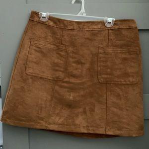 Cognac shade skirt